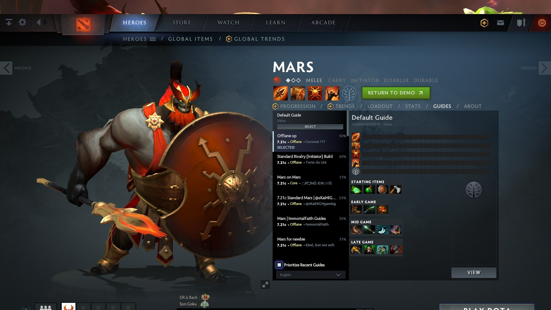 Dota2 New Hero Mars First Impressions