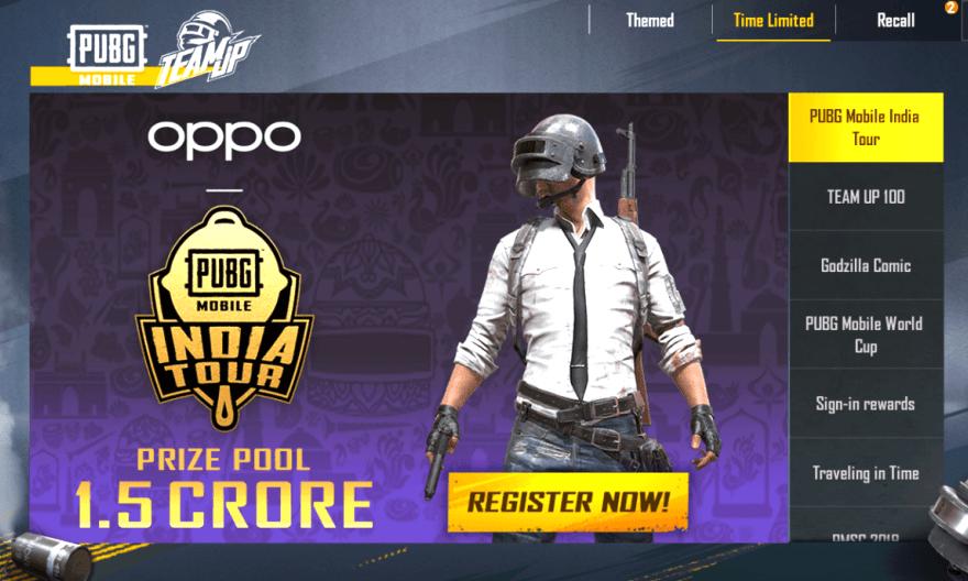 Oppo Pubg Mobile India Tour - 1.5 Crores Prize Pool